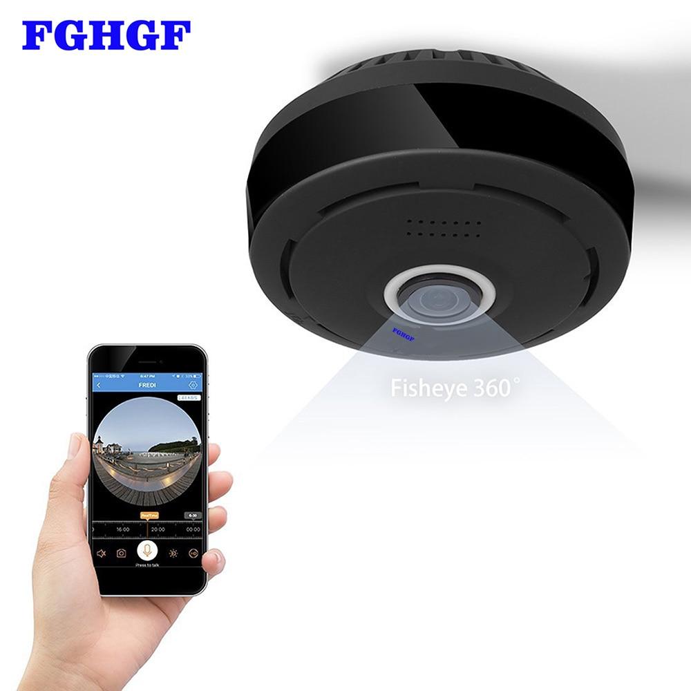FGHGF 360 Degree 960P HD Panoramic Wireless IP Camera CCTV WiFi Home Surveillance Security Camera System Indoor Remote Camera