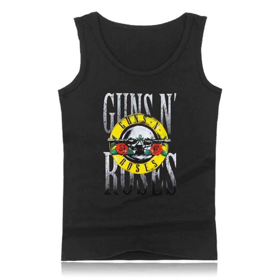 GUNS N ROSES mens tank tops shirt hip hop gym vest fashion bodybuilding tank top men singlet fitness clothing GUNS and ROSES