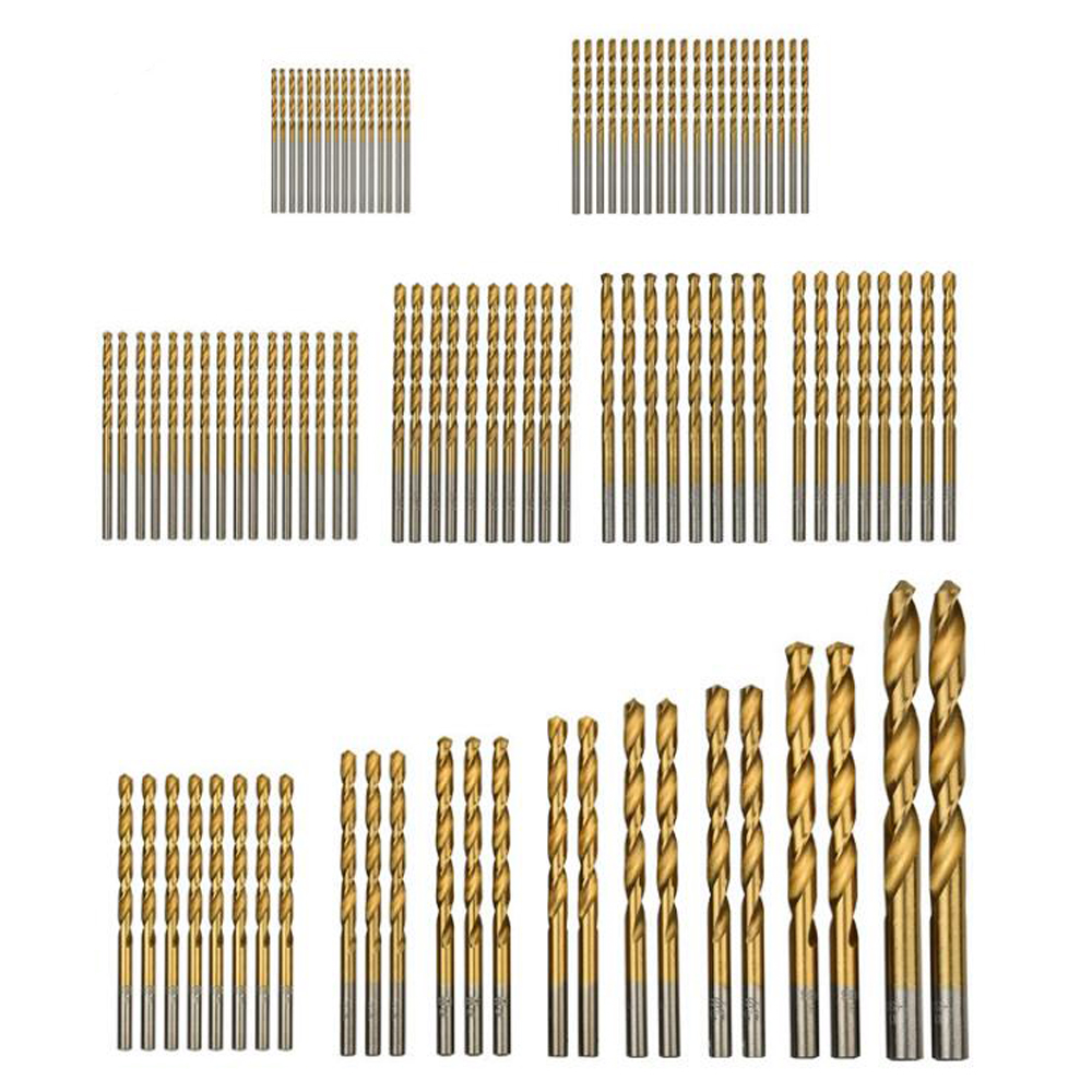 99PCS Home decoration purpose 1.5-10mm straight shank HSS 4241 Metal Drilling Twist Drill Bit HSS for Iron Aluminum wood plastic free shipping 1pc of hss 4241 made 1 2 shank hss twist drill bit 15 16 for thin iron wood pv panels insulation panels above