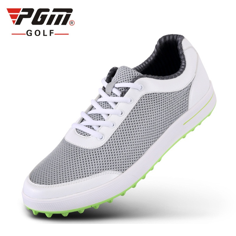 PGM Mens Golf Shoes Light Weight Breathable Athletic Shoes Outdoor Lace Up Comfortable Sport Shoes for Male AA51022 colour block lace up splicing athletic shoes
