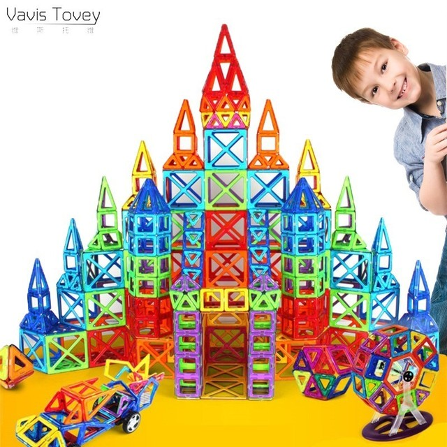 Vavis Tovey Standard DIY Magnet Pulling Magnetic Building Blocks Assembled Toys Children Gift