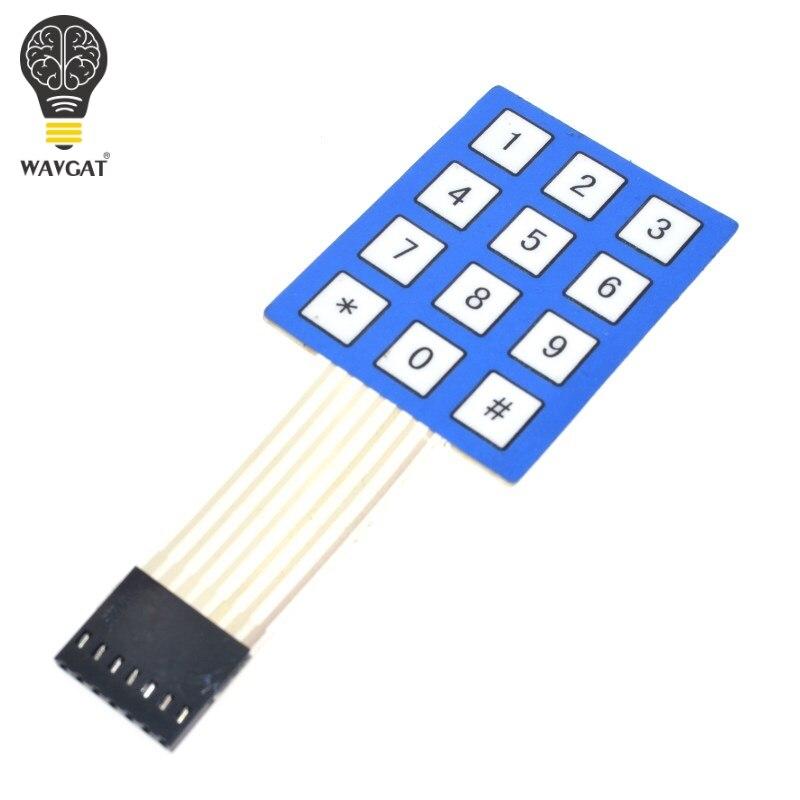 New 3x4 12 Key Matrix Membrane Switch Keypad Keyboard Super Slim US Dealer