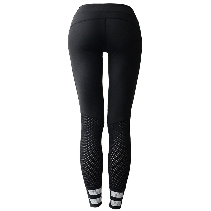 Maryigean New Sports Yoga Trousers Women Reflective Slim Breathable Quick-drying Fitness Leggings High Waist Push Up Pants