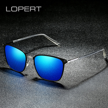 LOPERT BRAND DESIGN Classic Polarized Sunglasses Men Square Driving Ultralight Frame UV400 Gafas Oculos De Sol