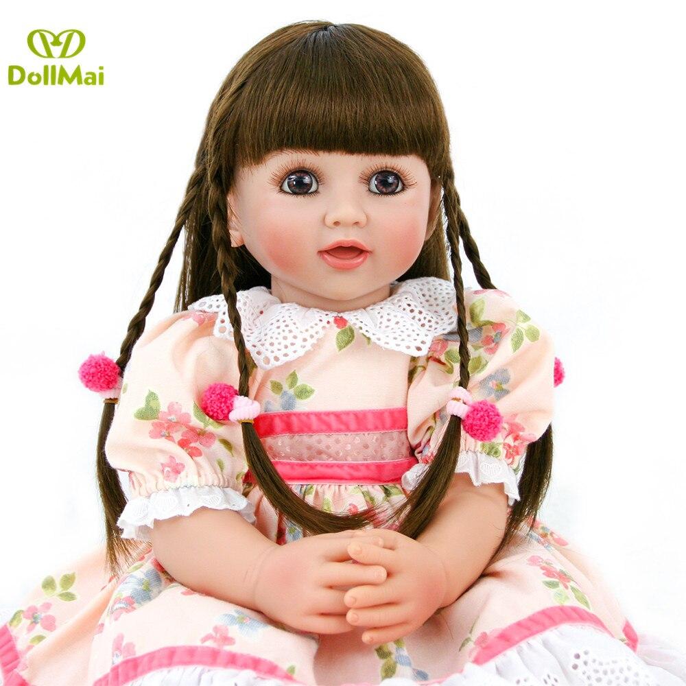 Silicone Reborn bébé poupée jouets 60 cm princesse bambin bébés bebes reborn bonecas Brinquedos Collection limitée cadeau d'anniversaire