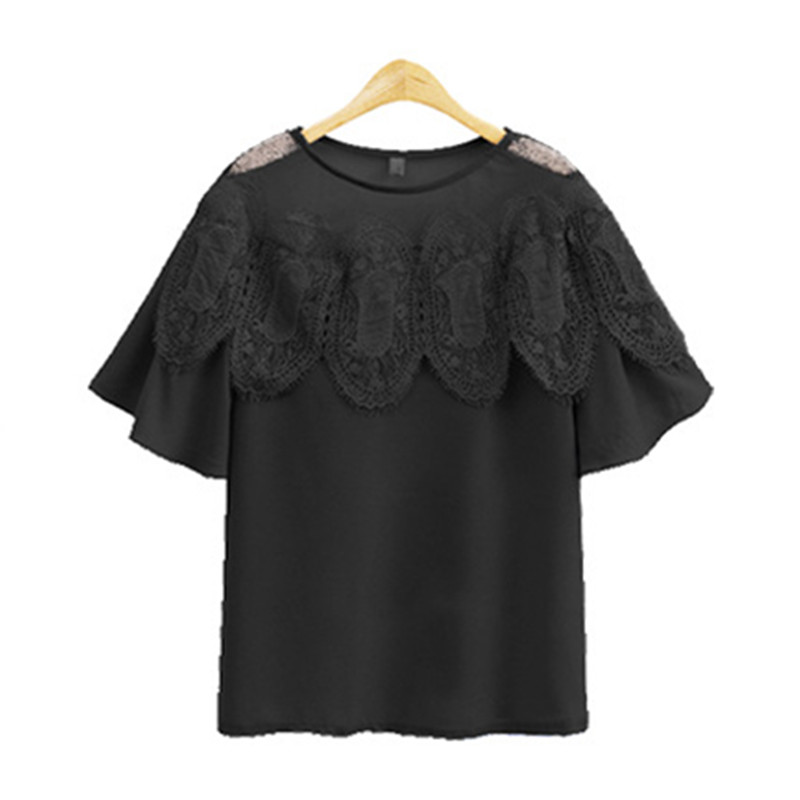 Short Sleeves font b Shirt b font 2017 Summer Tops Chiffon font b Blouse b font
