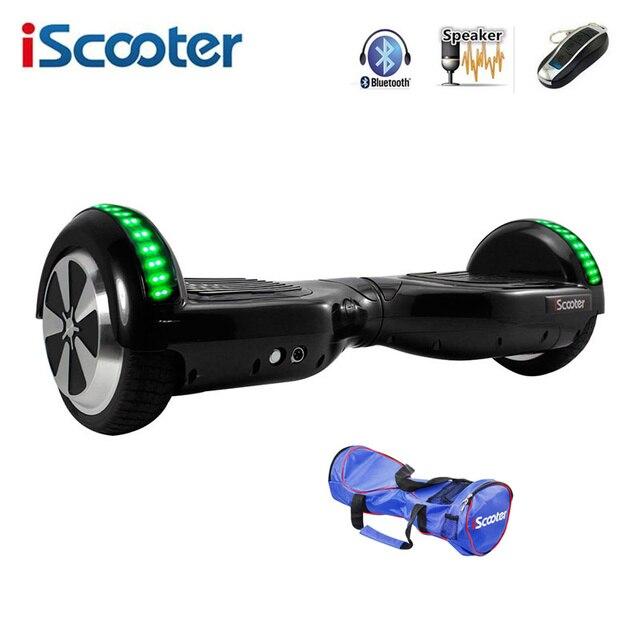 IScooter Hoverboard 6.5 дюймов Электрический Скейтборд Балансируя Скутер два Колеса с Led Bluetooth Динамик hover доска