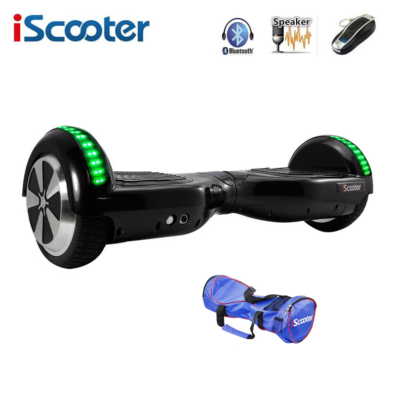 iScooter Hoverboard 6.5 inch Electric Skateboard Self Balancing Scooter two Wheel with Led Bluetooth Speaker hover board 10 inch electric scooter bluetooth hoverboard strong power remote control for aldut high quality hover board free shipping