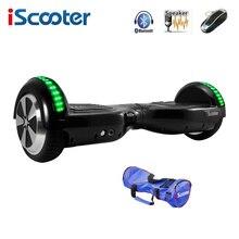 Iscooter hoverboard 6.5 cal deskorolka elektryczna samo balansowanie skuter dwa koła z led bluetooth speaker hover pokładzie