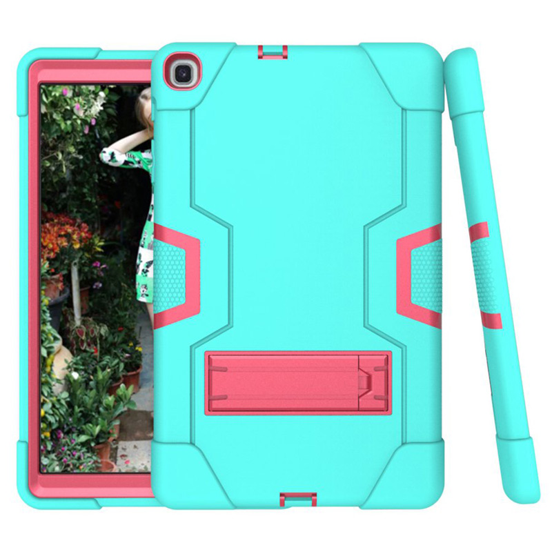 Kids Safe Armor Silicone <font><b>Case</b></font> for <font><b>Samsung</b></font> Galaxy Tab A 10.1 2019 SM-<font><b>T510</b></font> SM-T515 <font><b>T510</b></font> T515 tablet protective <font><b>case</b></font>+film+pen image