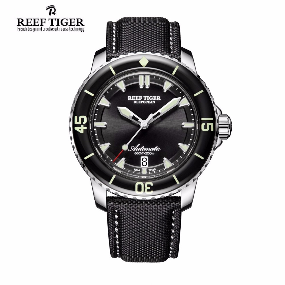 Reef Tiger/RT Sport Watches for Men Automatic Super Luminous Steel Dive Watch with Date RGA3035 водонагреватель проточный atmor basic 3 5 квт кухня