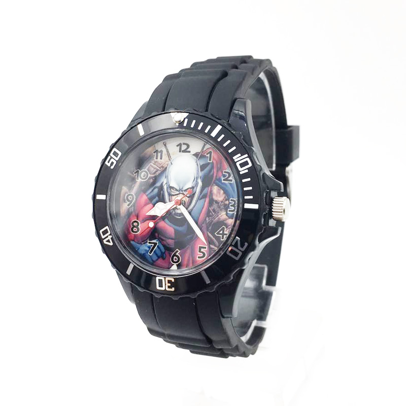 The Avenger Captain America students watches quartz wrist watch for kids cool boys clock black pu strap drop shipping (44)