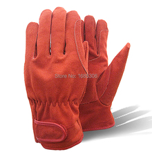 Hot product cow split leather gloves cow