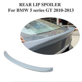 Rear Trunk Boot Lip Spoiler Wing Sticker Cho BMW 5 series GT 2010-2013 Không Sơn PU Primer Xám