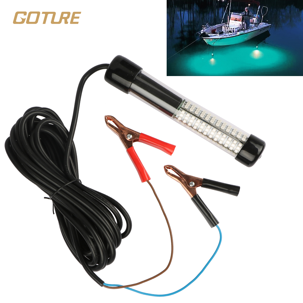 Goture LED Fishing Light 12V 10.8w Submersible With 5m/ 5.47yd Cord White, Blue, Green Fishing Accessories fishing rod plastic spring cord w keyring blue
