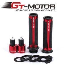 GT Motor HOT ANODIZING 7/8 รถจักรยานยนต์จับ/Handlebar Grips CNC 22MM Street และ RACING moto Racing Grips