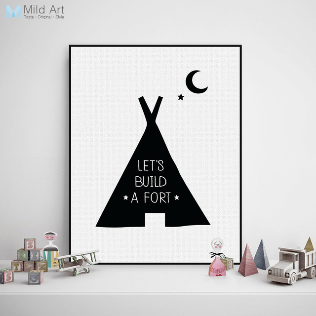 Black white nordic minimalist typography quote a4 art print poster nursery wall picture canvas painting boy