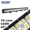 Oslamp 420W 7D Lens 40 Driving Led Light Bar Daytime Running Light Offroad Work Light Led