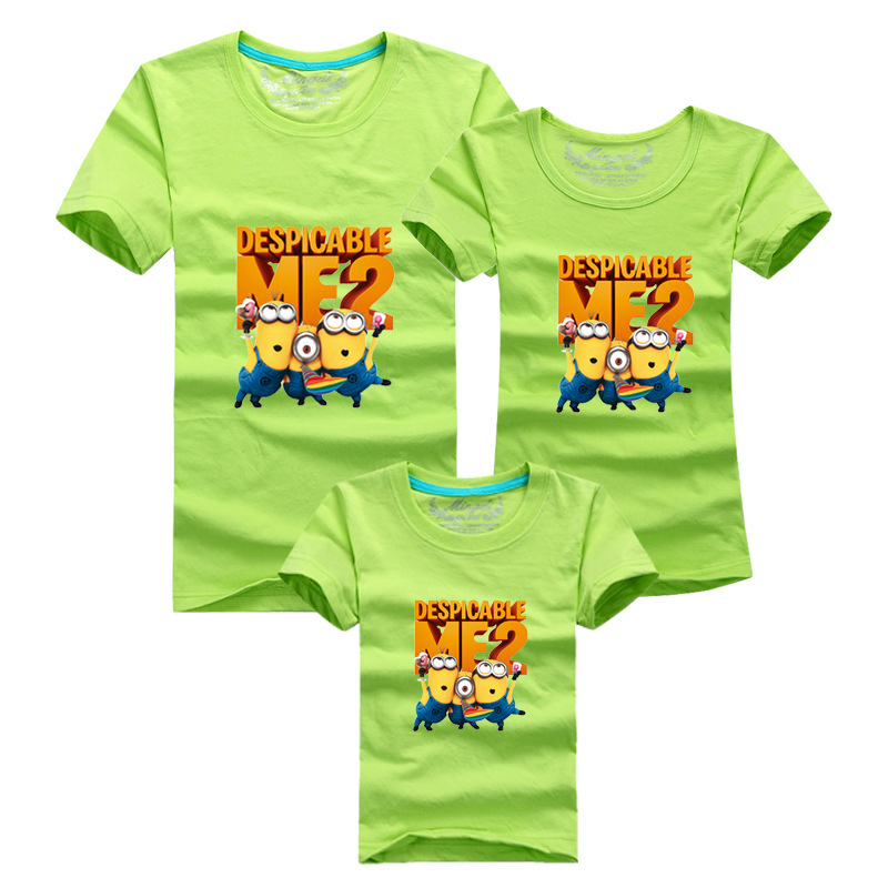 0ace34bc Summer minions despicable me 2 children t shirts family matching outfits  mother father daughter son summer funny tee shirts-in Matching Family  Outfits from ...