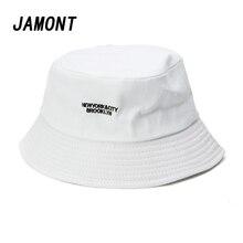 Gli uomini di Cotone Secchio Cappelli Per Le Donne Plain Ricamo Lettera  Caps Fashion Street Hip Hop Cap Protezione Solare Berret. 11bdc99cb8c6