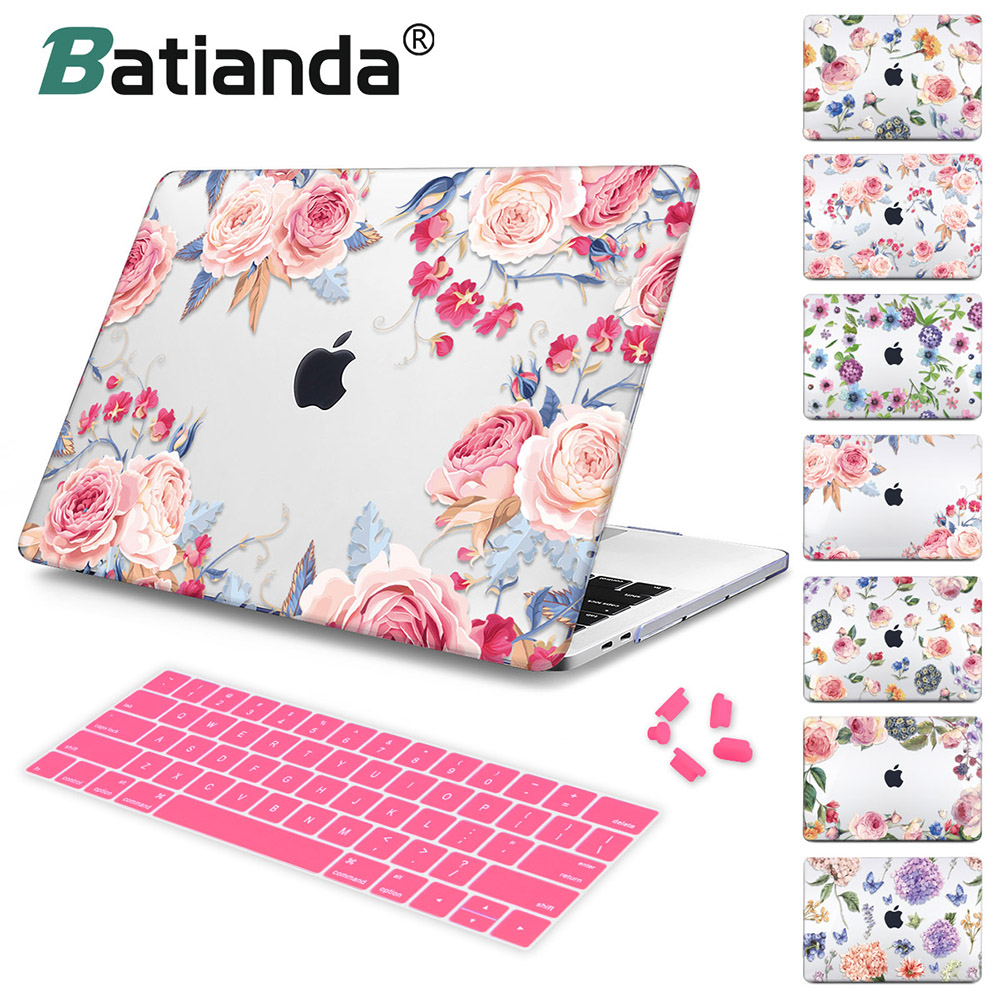 Case Cover Sleeve for MacBook Air 11 A1465/ air 13 inch A1466 pro 13.3 A1278 retina 13 A1502 For New macbook Pro 13 Flower Case цена