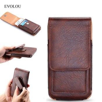 EVOLOU Gürtel Clip Telefon Fall für Huawei Ehre 9 P20 Pro P8 Lite 7A Rot mi S2 6 Pro mi 8 5A Vertikale Taille Tasche Beutel Fällen Holster