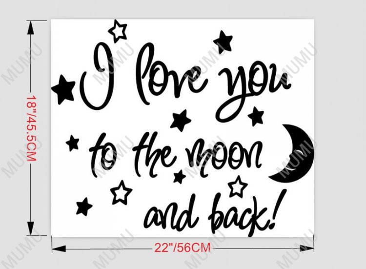 I Love You To The Moon And Back Wall Art i love you to the moon and back cute baby nursery wall art wall