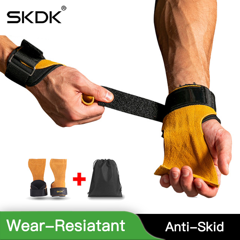 Gymnastics Gloves Grips Weight-Lifting-Grip Fitnes-Gear Crossfit SKDK Trainining Anti-Skid