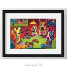Dogs Playing Poker Art HD Print Oil Painting On Canvas Wall Unframed Abstract Pictures Home Decor