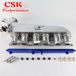 Image 5 - צריכת סעפת + דלק רכבת + 90mm מצערת גוף W/ TPS עבור טויוטה 1JZ GTE שחור/כחול/סגול