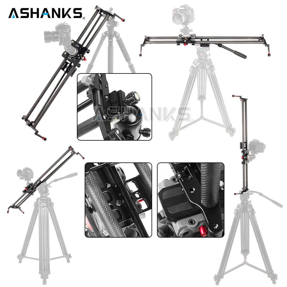 ASHANKS S2 กล้องติดตาม Slider คาร์บอนไฟเบอร์ปรับมุมหลอดติดตาม Focus Pan สำหรับ Stabilizer DV DSLR กล้องถ่ายภาพวิดีโอ
