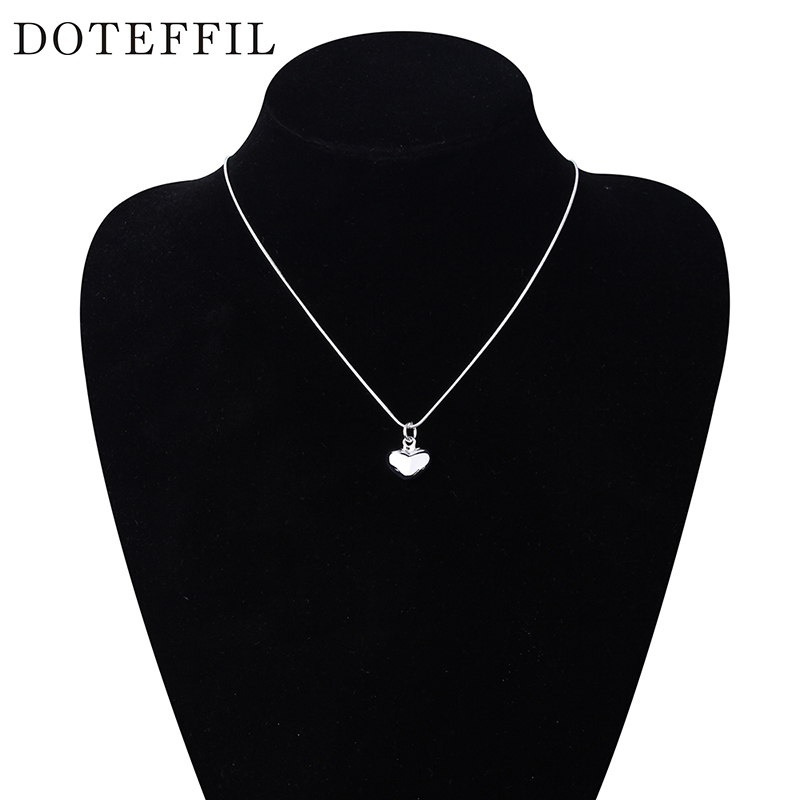 Grosir 925 Sterling Silver Kalung Fashion Perhiasan Jantung Liontin - Perhiasan fashion - Foto 6