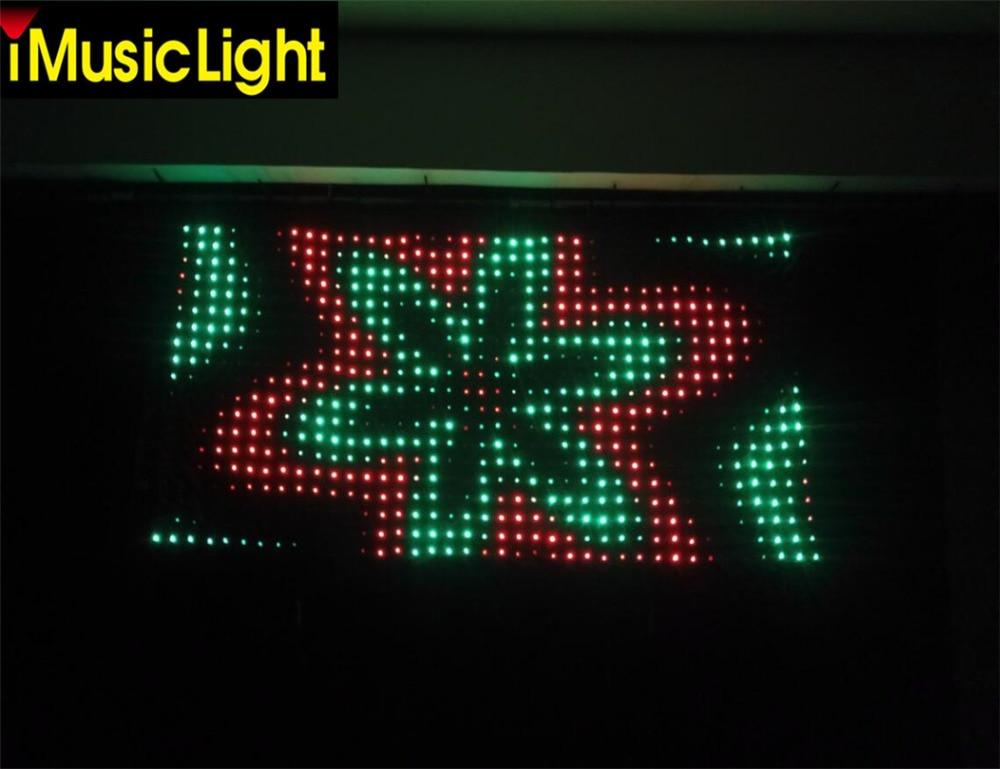 Бесплатная доставка P50mm 2,5 м по 4 м Visiondrape DJ шторы комплект ткань для проекции светодиодного видео RGB светодиодный занавес этап драпировки