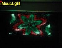 Free Shipping P50mm 2.5m by 4m Visiondrape DJ Curtain Set LED Video Cloth RGB LED Backdrop Stage Curtain Drapery