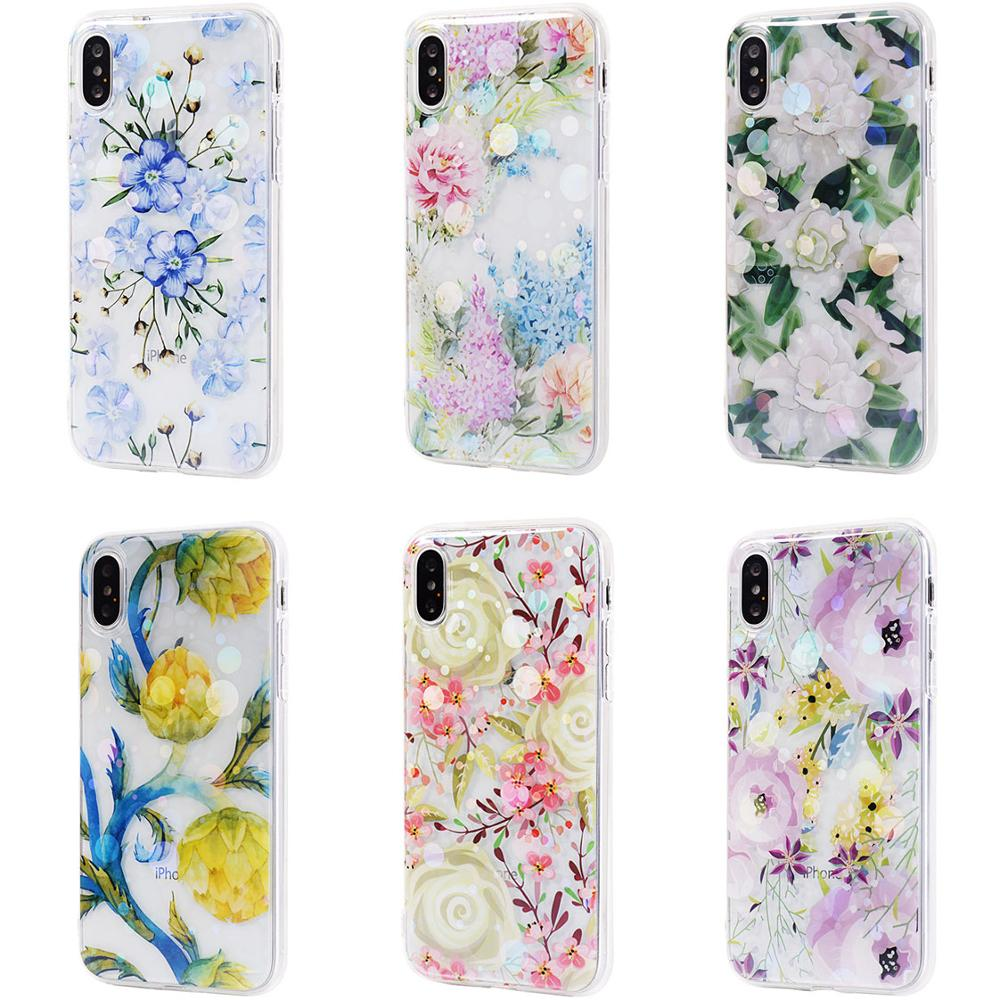 Glitter Flower Clear Case For Iphone 6s Case 6s Plus Case Iphone