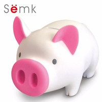 Semk Sound PVC Pig Doll Cute Baby Piggy Bank Coin Bank Pig Bank The Perfect Chrismas