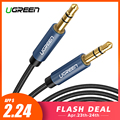 Ugreen Jack 3,5 Cable de Audio Cable de altavoz de 3,5mm línea de Cable Aux para iPhone 6 Samsung galaxy s8 coche de Xiaomi Redmi 4X de Audio jack