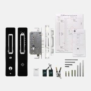 Image 5 - Дверной замок PINEWORLD с Биометрическим распознаванием отпечатков пальцев, интеллектуальный электронный замок, проверка отпечатков пальцев с паролем и разблокировкой RFID ключа
