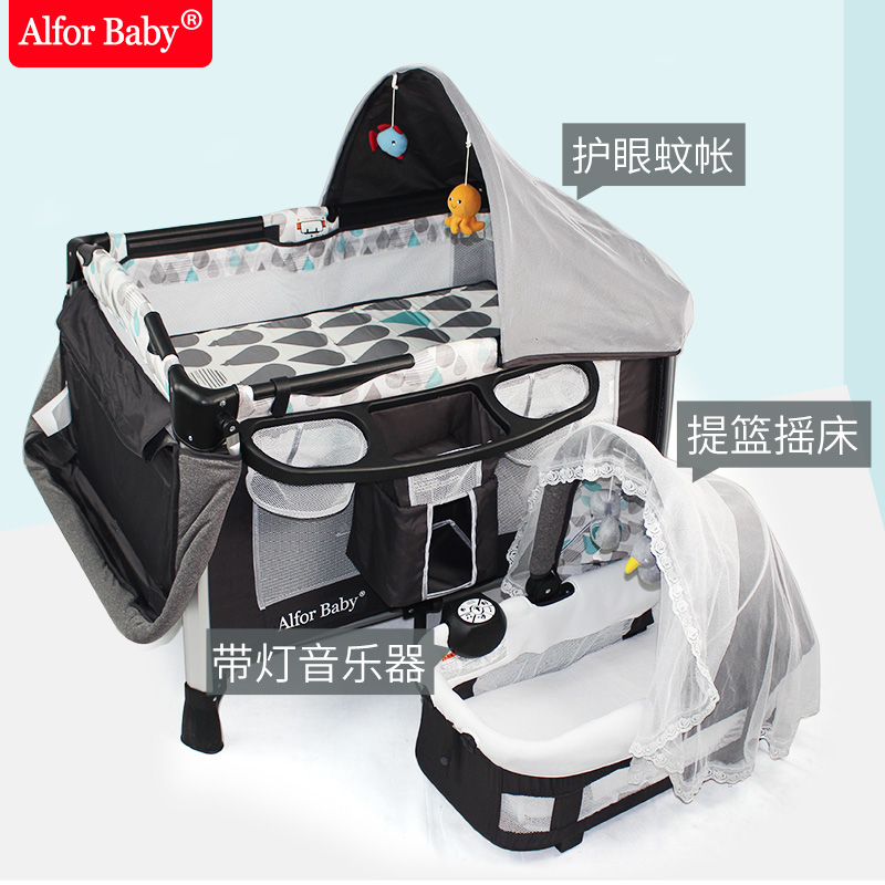 2018 Rushed New Arrival En Trolley Character Metal Niños Sacos de dormir Almohada Safety 1st Multifuncional Baby Bed Game