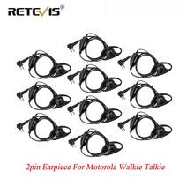 10pcs Retevis D Shape Soft Ear Hook Earpiece PTT Walkie Talkies Headset For Motorola GP300 P040 GP2000 P080 CT150 For HYT TC-500(China)