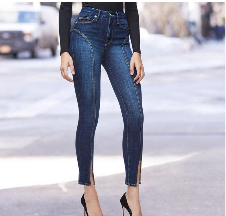 2019 Holes Stretch Boyfriends Ripped Jeans For Women With Middle Waist Jeans Trousers For Women'S Torn Jeans Large Size K1023