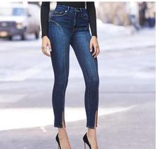 2019 Отверстия для парней с рваными джинсами для женщин со средней талией Джинсы для рваных джинсов