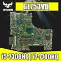 Обмен! Материнская плата GL753VD для ASUS GL753VE GL753V GL753  материнская плата для ноутбука  тест OK GTX1050/4 ГБ  i5-7300HQ