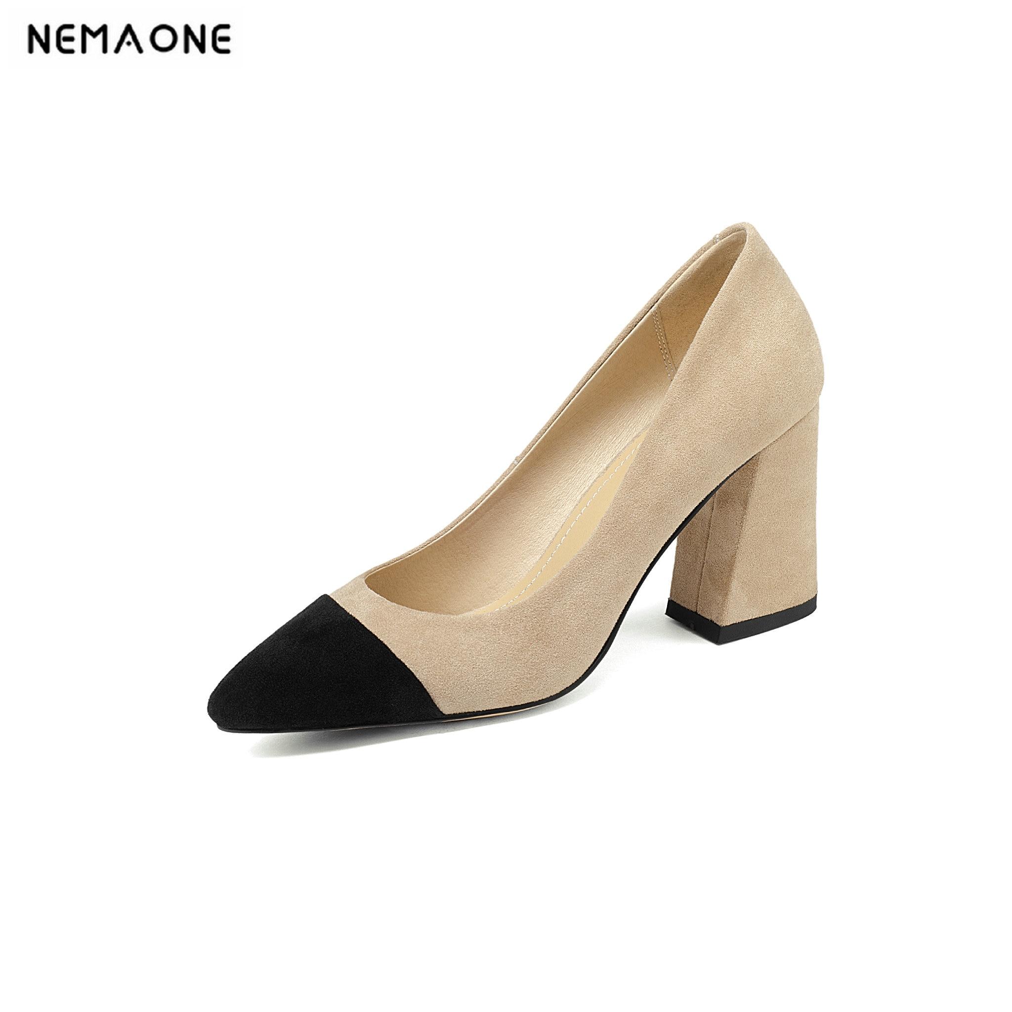 gris Talons Orteil Ladiea Nouvelles Véritable En Cuir De Patchwork Chaussures Femmes noir Hauts 2019 Femme Poined Apricot pIwaaS