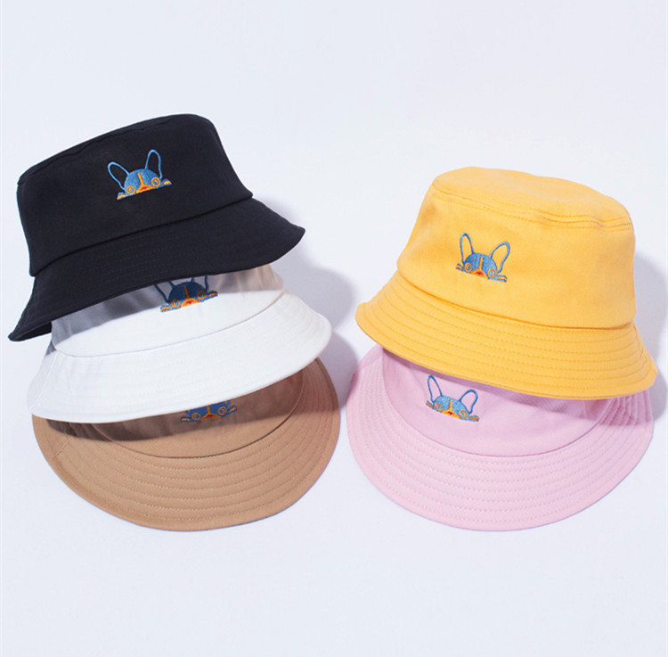 Dependable Hunting Fishing Bucket Hat Cap Shade Hat Cotton Summer Hat Dog Head Fashionable And Attractive Packages