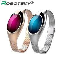 Новые модные женские Bluetooth 4.0 умный Браслет фитнес-пульсометр монитор сердечного ритма SmartBand на запястье для iOS и Android
