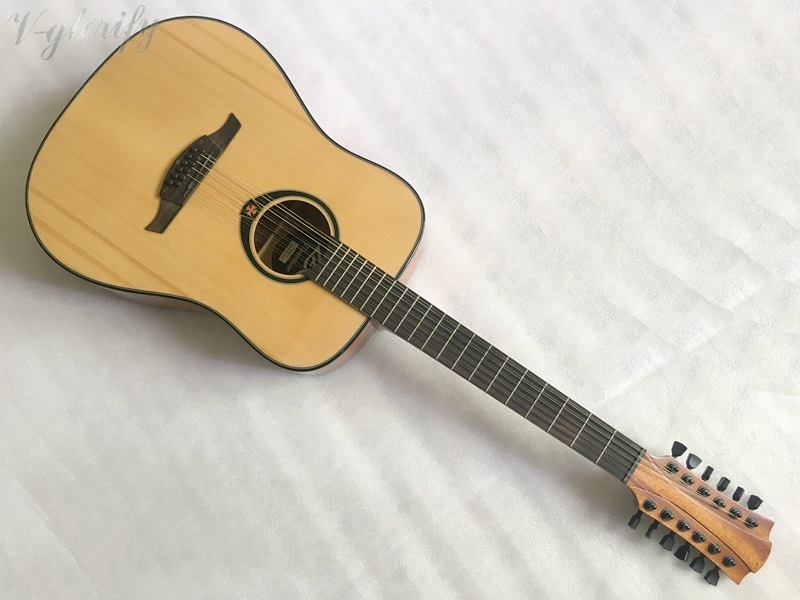 12 Strings guitar,41 Electric Acoustic Guitars,Spruce Top/Mahogany Body guitarra eletrica With LCD Pickup,Electric guitars