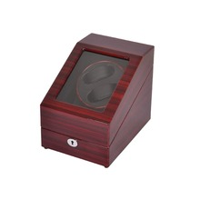 Watch Winder ,LT Wooden Automatic Rotation 2+3 Watch Winder Storage Case Display Box (Outside is rose red and inside is black)