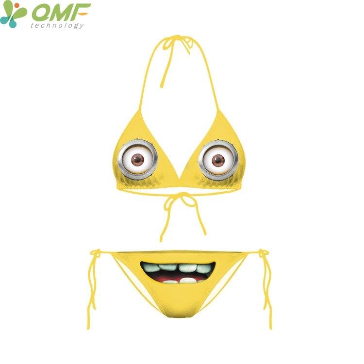 engraçado dos desenhos animados minions minions imprimir bikinis set