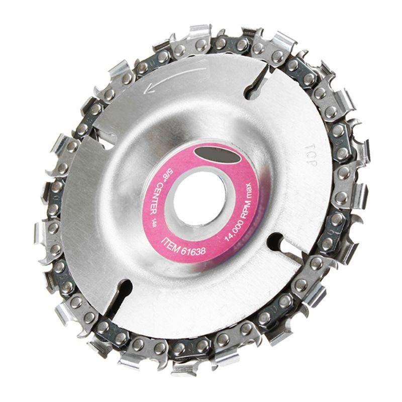 Ketten Freies Porto 4 Zoll Grinder Disc Und Kette 22 Zahn Feine Cut Kette Für 100/115 Winkel Grinder Ausgezeichnet Im Kisseneffekt